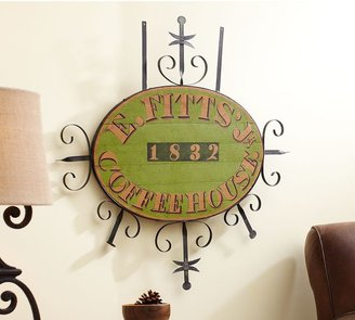 American Folk Art Museum Museum Craft Collection E. Fitts' Jr Coffeehouse Sign