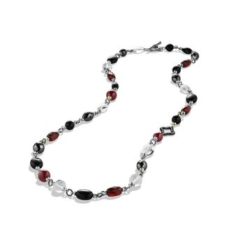 David Yurman Grisalle Necklace with Crystal, Diamonds, and Gold
