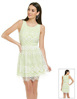 Betsey Johnson Lace Overlay Dress
