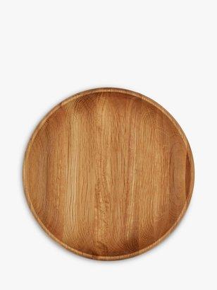 John Lewis & Partners New England Round Dish, Oak Wood
