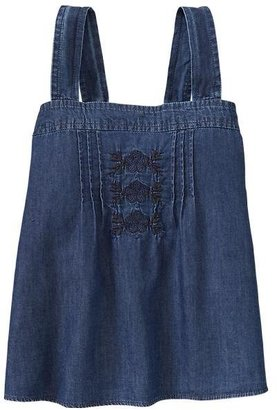 Gap Chambray embroider top