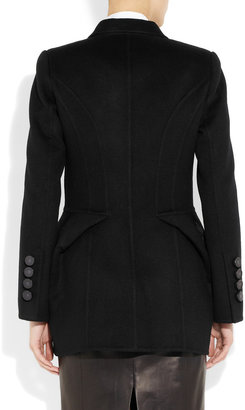 Marc Jacobs Faux fur-trimmed wool jacket