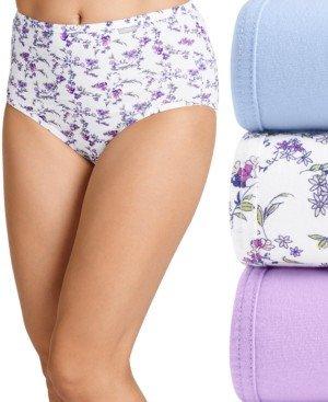 Jockey Elance Brief 3 Pack Underwear 1484, Extended Sizes