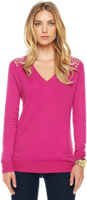 Michael Kors Grommet-Shoulder Sweater