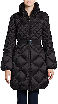 Moncler Belted Quilted Jacket