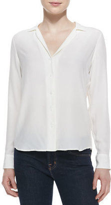Equipment Adalyn Silk Long-Sleeve Blouse $218 thestylecure.com