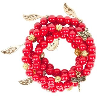 Amanda Marcucci Red and Gold Charm Bracelets