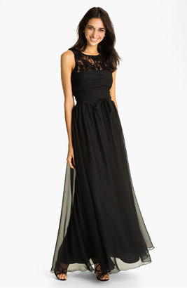Monique Lhuillier Bridesmaids Chiffon Gown (Nordstrom Exclusive)