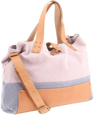 Cole Haan Kittery Point Casual Utility Tote (Opal Grey/Burnt Orange Canvas) - Bags and Luggage