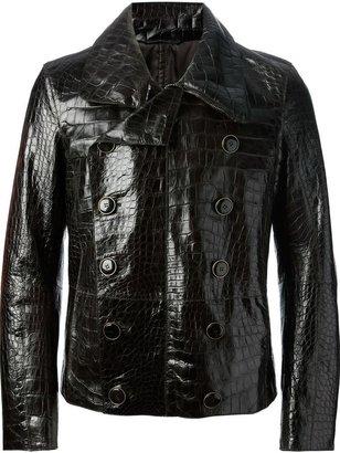 Giorgio Armani aligator leather jacket