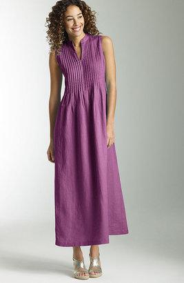 J. Jill Pleated linen maxi dress