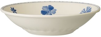 "Villeroy & Boch Farmhouse Touch Blue Flowers"" Soup/Pasta Bowl"