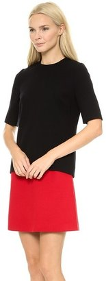 Victoria Beckham Victoria Tux Stripe Combo Mini Dress