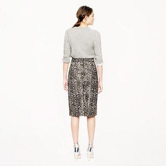 J.Crew Collection printed calf hair skirt