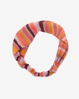 Missoni Metallic Knit Headband: Pink