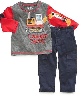 Nannette Baby Set, Baby Boys 2-Piece Long-Sleeved Truck Shirt and Pants