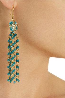 Rosantica Stupendo gold-dipped aquamarine drop earrings