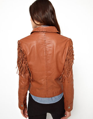 Levi's Fringed Leather Jacket