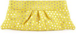 Lauren Merkin Eve Polka-Dot Clutch Bag, Yellow
