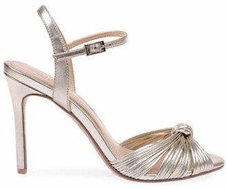 Badgley Mischka Lady Metallic Satin Sandals