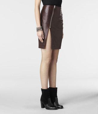 AllSaints Split Lucille Leather Skirt