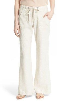 Women's Joie Wide Leg Linen Pants $198 thestylecure.com