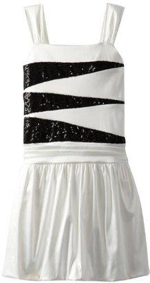 Ruby Rox Big Girls' Sequin Cut Out Bubble Dress