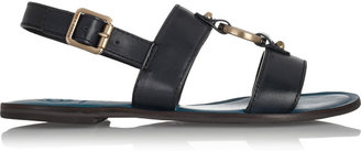 Tory Burch Ring-embellished leather sandals