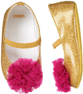 Gymboree Tulle Rosette Glitter Crib Shoe
