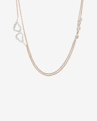 Kismet by Milka Pave Diamond Wing Pendant Necklace