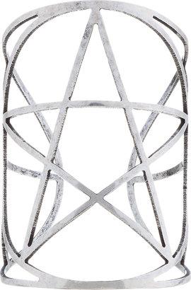 Pamela Love Silver Tarnished Pentagram Cuff