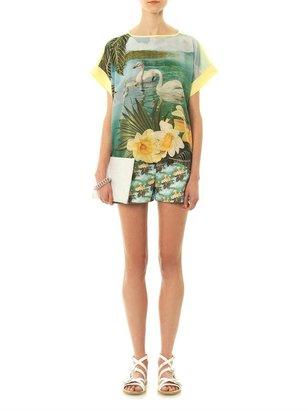 Emma Cook Swan-print silk top