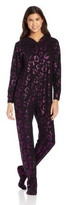 Hello Kitty Junior's Follow The Glow Black with Pink Foil Print Jumpsuit