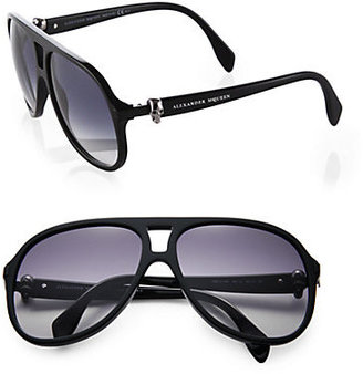 Alexander McQueen Acetate Skull Navigator Sunglasses