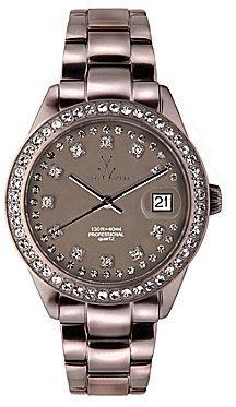 Toy Watch TOYWATCH Metallic Stones Pewter Watch