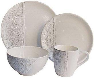 JCPenney Bela Mesa Crochet 16-pc. Dinnerware Set