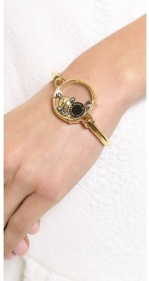 Marc by Marc Jacobs Floating Charms Hinge Cuff Bracelet