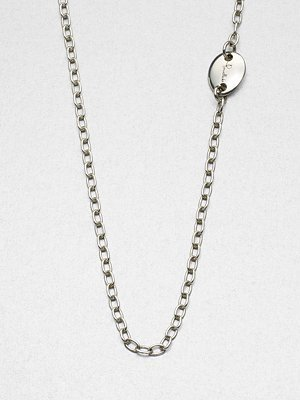Pomellato 67 Long Sterling Silver Chain Link Necklace