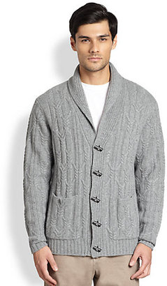Saks Fifth Avenue Collection Shawl Cable-Knit Cardigan