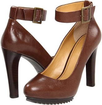 Nine West Cavewoman (Dark Brown Leather) - Footwear
