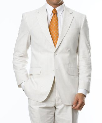 Jos. A. Bank Stays Cool 2-Button Seersucker Suit with Plain Front Trousers