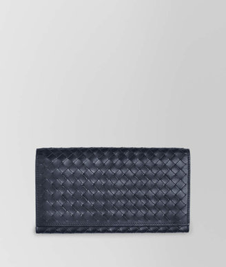 Bottega Veneta LIGHT TOURMALINE INTRECCIATO CONTINENTAL WALLET