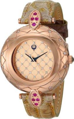 Brillier Women's 30-03 Analog Display Swiss Quartz Brown Watch