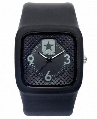 Converse Watch, Unisex Clocked Black Silicone Strap 40mm VR030-005