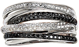 EFFY COLLECTION Black and White Diamond Ring in14 Kt. White Gold, .56 ct. t.w.