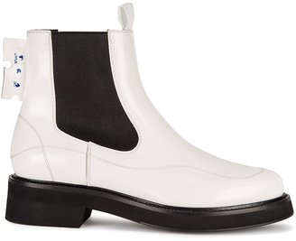 Off-White White Leather Chelsea Boots
