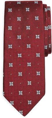 Brooks Brothers Four-Petal Flower Basketweave Tie