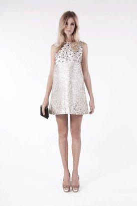 Carnet de Mode Dress - High Society - Cream & silver