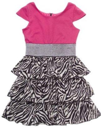 Rare Editions Girls 7-16 Ruffle Ponte Dress