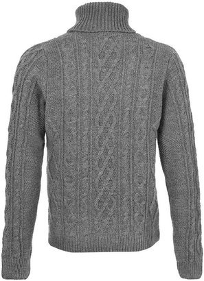 Topman Grey turtleneck Sweater